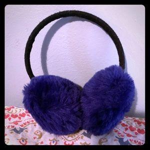 Fuzzy, purple earmuffs